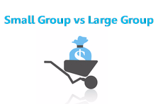 Small vs large groups